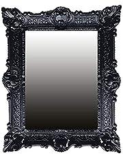 Lnxp Wandspiegel barokke spiegel in zwart Renaissance OPULENTER nostalgie antieke barok repro barokstijl