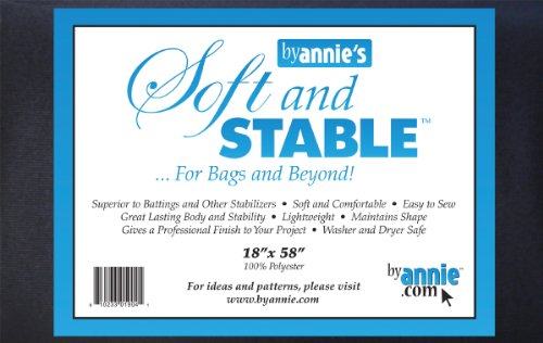 (ByAnnie's Soft and Stable Fabric, 18 by 58-Inch, Black)