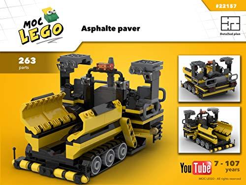 Asphalt Paver (Instruction Only): MOC LEGO por Bryan Paquette