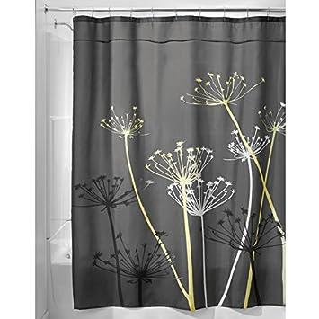 MDesign Dandelion Fabric Shower Curtain   Long 72u0026quot; X 84u0026quot;, ...