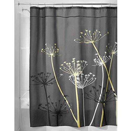 mDesign Dandelion Fabric Shower Curtain