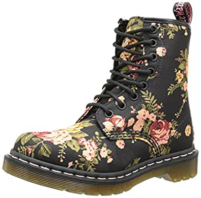 Dr. Martens Women's 1460 Re-Invented Victorian Print Black Victorian Flowers Lace Up Boot - 3 F(M) UK / 5 B(M) US