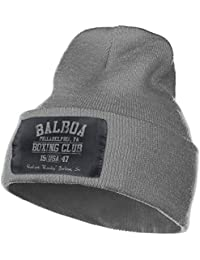 Rocky Balboa Boxing Club Unisex Black Beanie Hat Crylic Acid Daily Warm  Soft Hat Knit Plain 79fa8f7d0f1d