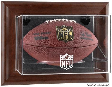 - Sports Memorabilia NFL Brown Framed Wall-Mountable Football Logo Display Case - Fanatics Authentic Certified - Football Logo Display Cases