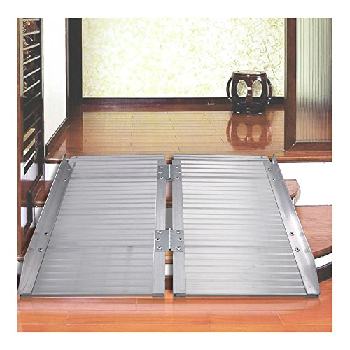 3' Aluminum Fold Portable Wheelchair Ramp Mobility Handicap Suitcase Threshol from Unknown