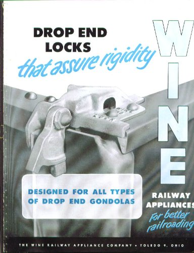 (Wine Railway Appliance Drop End Gondola Lock catalog 1950s)