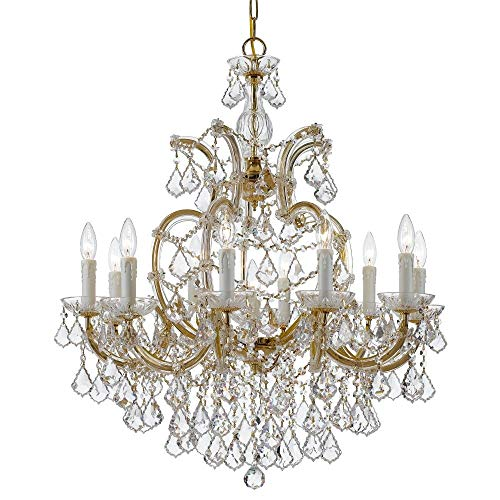 Crystorama 4438-GD-CL-MWP Maria Theresa - Eleven Light Chandelier, Choose Finish: Gold Leaf