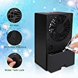 SHSTFD Portable Air Conditioner Fan, Small Personal Desk Fan, Quiet Air Cooler Misting Fan, Mini Table Fan Evaporative Circulator Humidifier for Outdoor, Room, Camping, Office, Travel, 3 Speeds