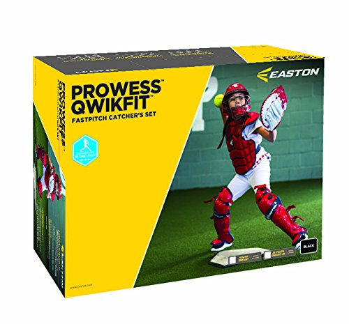 Easton Prowess Qwikfit Fast Pitch Catcher's Box Set, Black