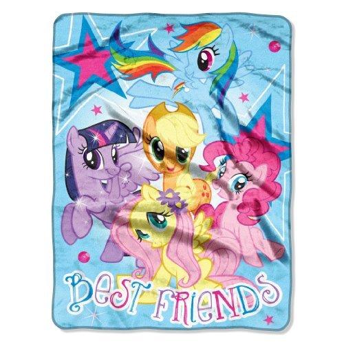 My Little Pony, Best Friends Micro Raschel Throw Blanket, 46