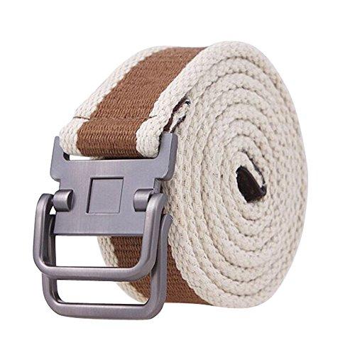 Classic D-ring Belt (Xhtang Men's Fashion D-Ring Buckle Sturdy Canvas belt Waistband)