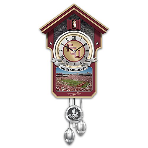 Florida State University Seminoles Wall-Hanging Cuckoo Clock: 1 Of 10,000 by The Bradford Exchange