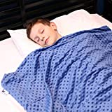 Huggaroo Children's Weighted Blanket with Plush Duvet Cover, 7 lbs, 36 x 48 inches (Royal Blue)