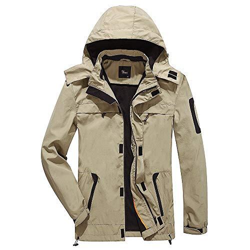 Yozai Men's Lightweight Hooded Windbreaker Breathable Quick Dry Waterproof Jacket – DiZiSports Store