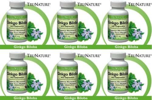 TruNature Ginkgo Biloba 120 mg - 300 softgels (Pack of 6)