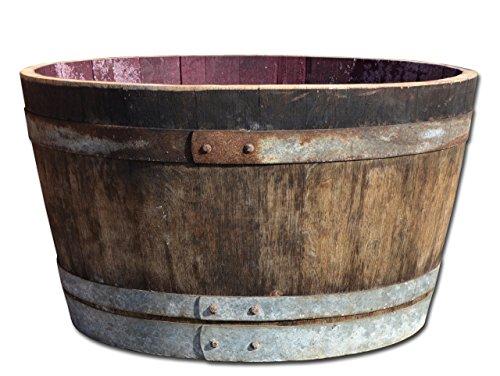 Holzfass, Weinfass halbiert aus Eichenholz