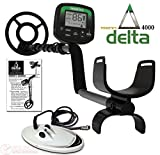 "Teknetics Delta 4000 Metal Detector with 8"" and 10"" DD Search Coil"
