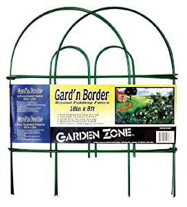 Origin Point Brands 41808 Gard'n Border Round Folding Fence, Green, 18-Inch X 8-Feet
