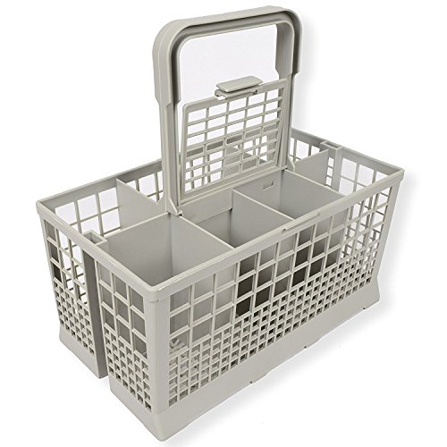 Universal Dishwasher Cutlery Basket (9.5 x 5.4 x 4.8 inches) fits Kenmore, Whirlpool, Bosch, Maytag, KitchenAid, Maytag, Samsung, GE, and more