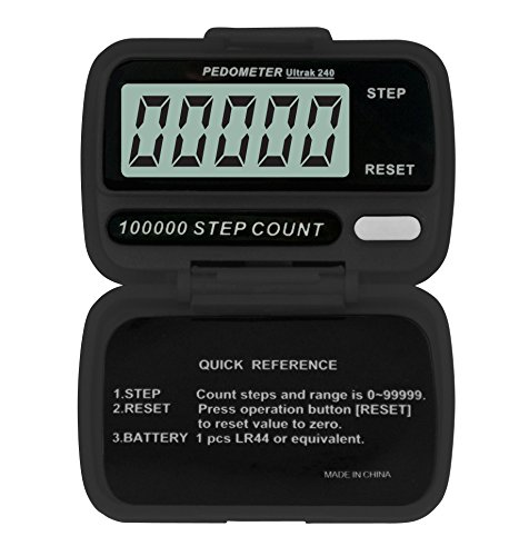 Ultrak 240 Step Counter Pedometer (Set of 12) by Ultrak