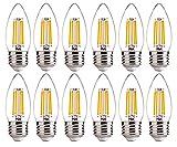 E26 Base LED Candelabra Light Bulbs 60W Equivalent - FLSNT 4.5W B11 LED Dimmable Candle Light Bulbs,2700K Soft White,450LM,CRI80-12 Pack