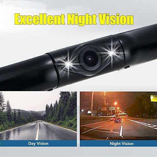 "VECLESUS VM1 Backup Camera Kit, Car Licence Plate Backup Camera with 4.3"" LCD Car Monitor, Night Vision, Waterproof, Easy to Install, Wired Rear View Camera for Car Sedan SUV Pickup Truck Minivan"