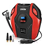Oasser Tyre Inflator Air Compressor Car Tyre Pump Portable Electric with Digital LCD LED Light 12V DC 150 PSI for Car Bicycle Tires Balls Swimming Rings Toys P6