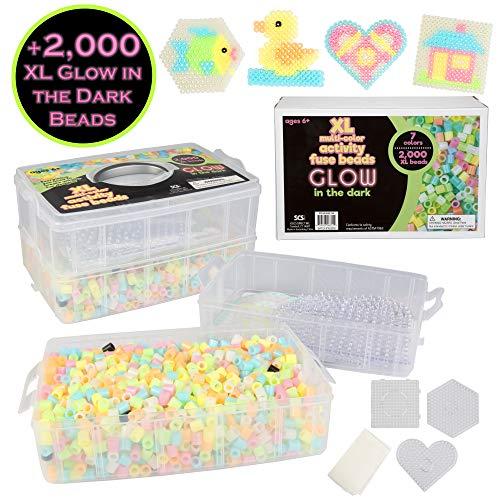 KIT Canutillos Beads brilla en la oscuridad (2000 piezas)