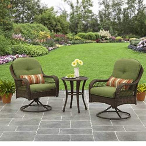 Better Homes and Gardens Azalea Ridge 3 Piece Outdoor Bistro Set, Seats 2 - Green