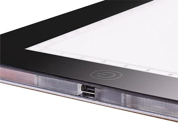 LED Light Pad, han Shi A4 LED caja de luz Tracer USB Cable ...