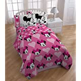 Disney Minnie Mouse Love Hearts Dots Twin Bedding Comforter