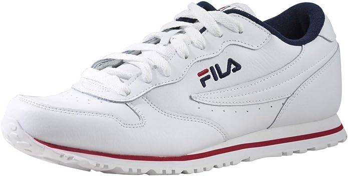 Fila Euro-Jogger-II - Zapatillas deportivas para hombre, color blanco, azul marino y rojo: Amazon.es: Zapatos y complementos