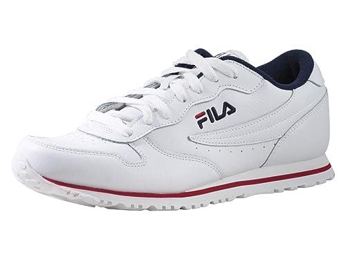 a18affac7f35 Fila Men s Euro Jogger Ii Sneaker White Navy Red 8.5 D(M) US  Buy ...