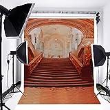 Mohoo 1.5x2.1m Fondo de la foto tema escalera de palacio de lujo Europe Antecedentes Contextos el palacio de la boda Fotografía de la belleza del estudio de vinilo Foto