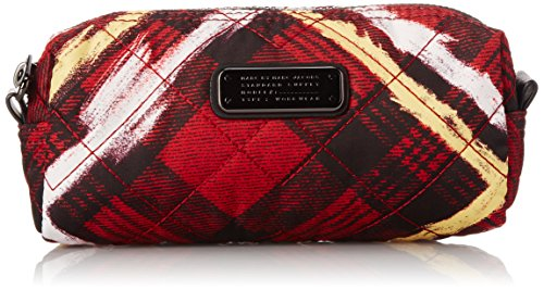 Marc by Marc Jacobs Crosby Quilt Nylon Printed Narrow Cosmetic Bag, Ruby Red Multi, One (Marc Jacobs Plaque)