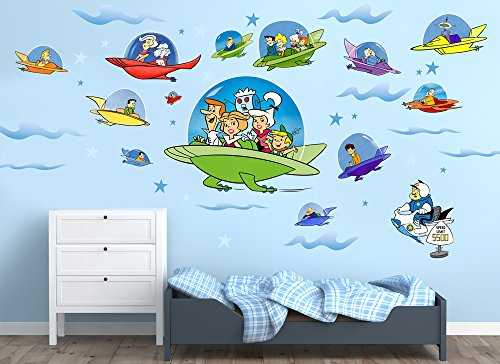 Jetsons Large Spacecraft Wall Decal Set (Hanna Bedroom Collection)