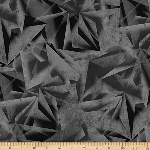 Blank Quilting Quarry 108'' Texture Fabric, Black, Fabric By The Yard