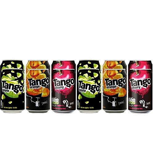 Tango Mixed Variety Fizzy Soft Drink Can Set (Apple, Orange & Cherry) 330ml (12)