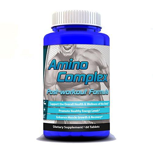 NUEVO Post entrenamiento suplemento #1 clasificado BCAA rama cadena aminoácidos complejos, después del entrenamiento para los culturistas, recuperación, incluyendo glicina, glutamato, leucina, 60 comprimidos por el poder de la fuerza, proteína,