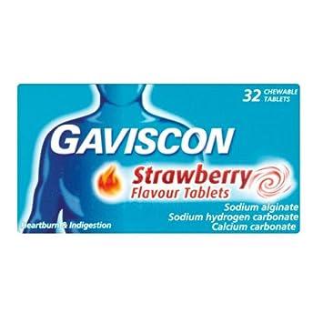 Amazon.com: Gaviscon Fresa Sabor 32 tabletas: Beauty