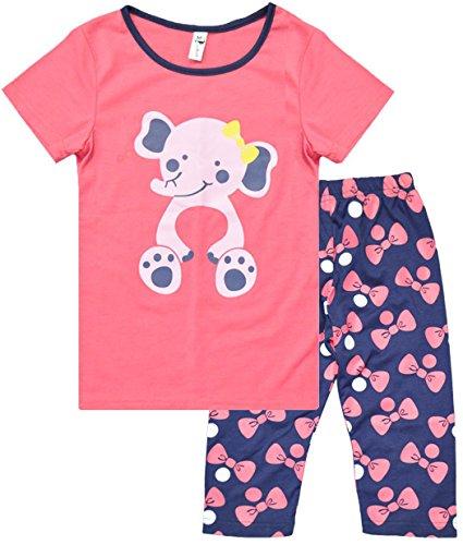 Dhasiue Christmas Girls Pajamas Cotton Long Pajama Set Little Kids Sleepwear Clothes Size 2-7 Years