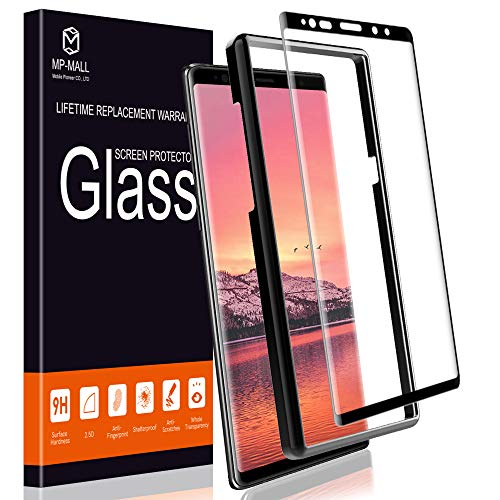 (MP-MALL Screen Protector for Samsung Galaxy Note 9, [Alignment Frame Easy Installation] [Tempered Glass] with Lifetime Replacement Warranty)