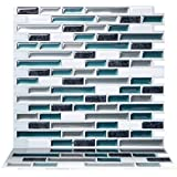Tic Tac Tiles 10-Sheet Peel and Stick Self Adhesive Removable Stick On Kitchen Backsplash Bathroom 3D Wall Sticker Wallpaper Tiles in Como Bay