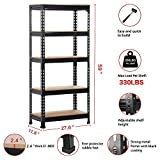 Topeakmart Garage Storage Racks, 5-Tier Adjustable