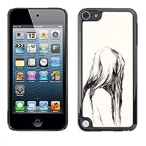 PC/Aluminum Funda Carcasa protectora para Apple iPod Touch 5 Ape Watercolor Nature Teeth / JUSTGO PHONE PROTECTOR