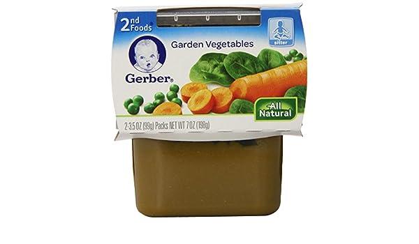 amazon com gerber 2nd foods garden vegetables 2 count pack of 8 grocery gourmet food