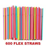 Ikea Soda Straws Flexible (600 Pack)