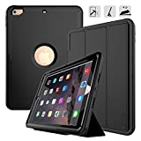 New iPad 9.7 2017/2018 case - DUNNO Heavy Duty Full Body Rugged Protective Case with Auto Sleep/Wake Up Stand Folio & Three Layer Design for Apple iPad 9.7 inch 2017/2018 (Black)