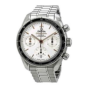 Omega Speedmaster Reloj cronógrafo automático con esfera plateada para hombre 324.30.38.50.02.001 1
