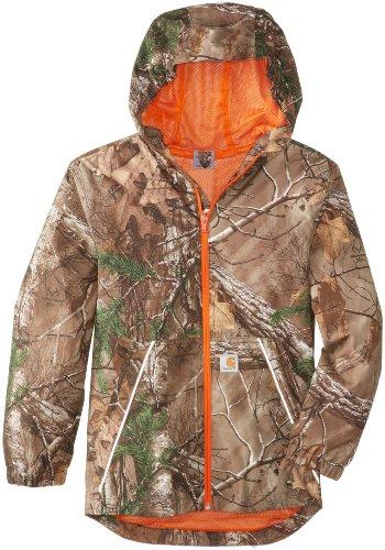 ' Hooded RealTree Rain Jacket, Realtree Xtra, Large-14/16 ()